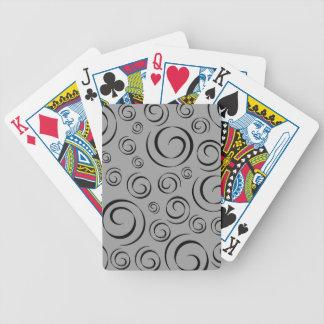 Graphite Swirl Pattern (black & grey) Bicycle Playing Cards