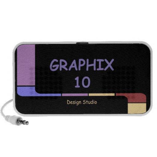 Graphix 10 Design Studio Logo Travel Speakers