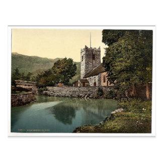 Grasmere Church, Lake District, England classic Ph Postcard