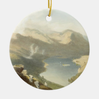 Grasmere from Langdale Fell, from 'The English Lak Round Ceramic Decoration