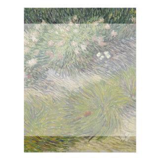 Grass and Butterflies by Vincent Van Gogh Flyer Design