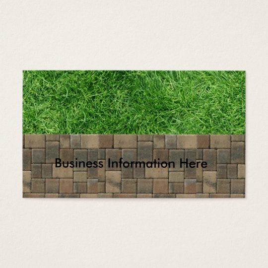 grass and pavers business card