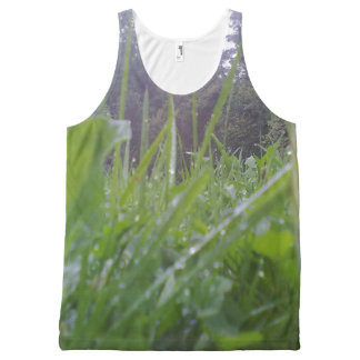GRass and tree All-Over Print Tank Top