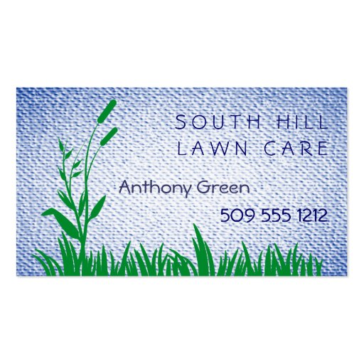 Grass and Weed Textured Look Background Business Cards