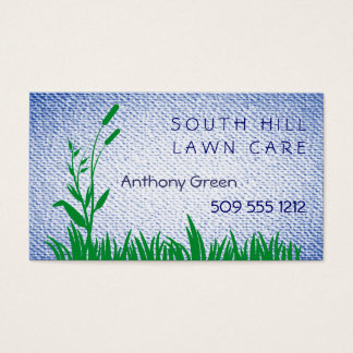Grass and Weed Textured Look Background Business Card