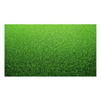 Grass Background. Fresh Green Lawn Business Card