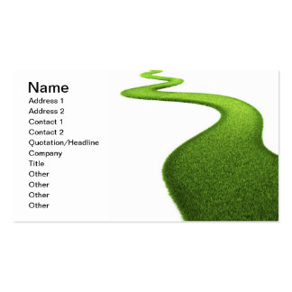 Grass Background. Fresh Green Lawn Business Card Template