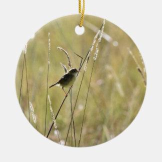 GRASS BIRD RURAL QUEENSLAND AUSTRALIA ROUND CERAMIC DECORATION