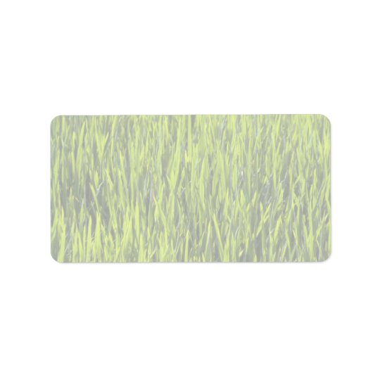 Grass blades address label