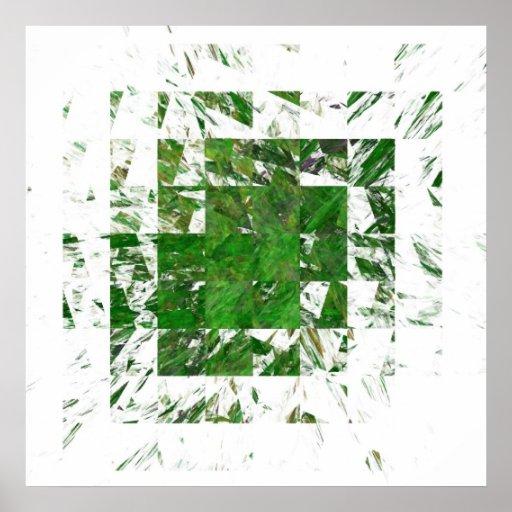 Grass Blocks Print