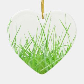 Grass Ceramic Heart Decoration