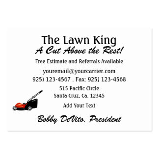 Grass Cutting / Landscaping / Lawn Service - SRF Pack Of Chubby Business Cards