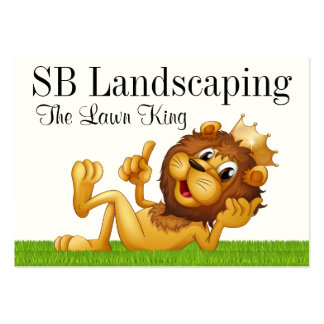 Grass Cutting / Landscaping / Lawn Service - SRF Large Business Cards (Pack Of 100)
