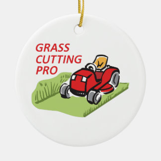 GRASS CUTTING PRO CHRISTMAS ORNAMENT