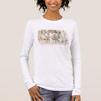 Grass dance (ink on paper) long sleeve T-Shirt