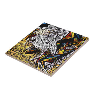 Grass Dancer Ceramic Tile