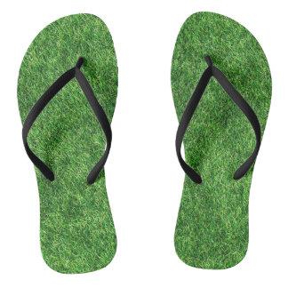 Grass Design Flip Flops