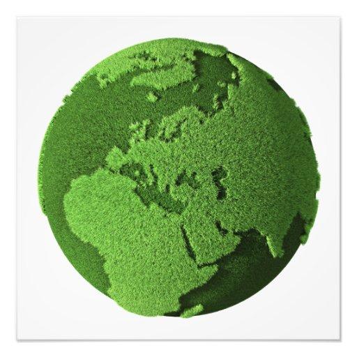 Grass Globe - Europe Art Photo