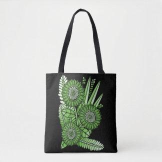 Grass Green Gerbera Daisy Flower Bouquet Tote Bag