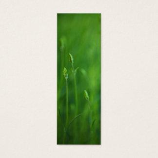 Grass - Green Grasses Background Template Mini Business Card