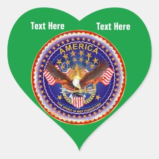 Grass Green Heart Sticker