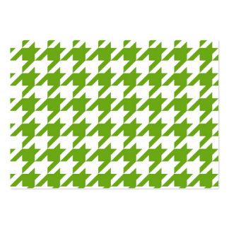 Grass Green Houndstooth Business Card