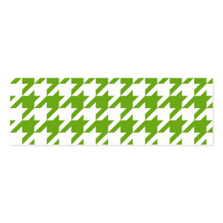 Grass Green Houndstooth Pack Of Skinny Business Cards