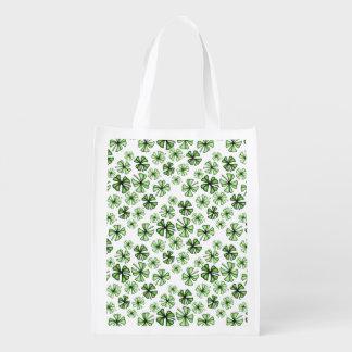 Grass-Green Lucky Shamrock Clover