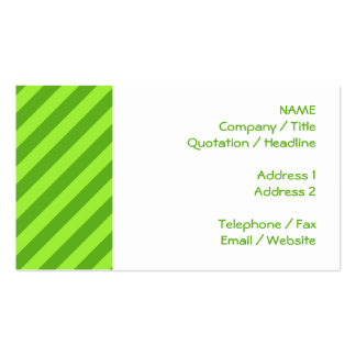 Grass Green Stripes. Business Card Template