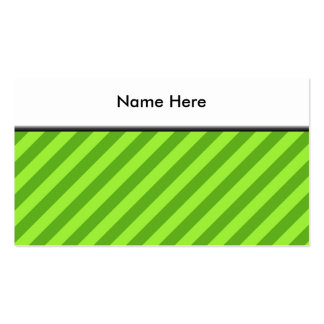 Grass Green Stripes. Pack Of Standard Business Cards