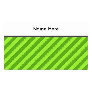 Grass Green Stripes Business Card Template