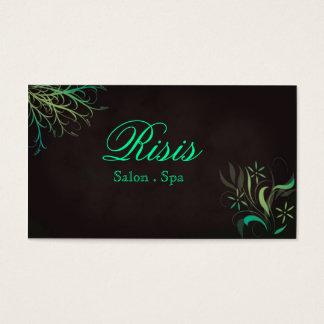 Grass Green Yellowish Card Salon Spa Business Card