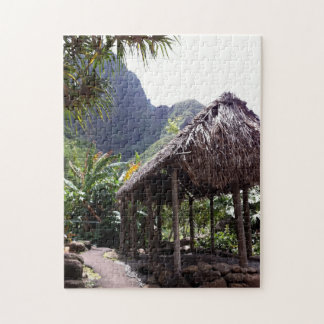 Grass Hut in Iao Valley State Park, Maui, Hawaii Jigsaw Puzzle
