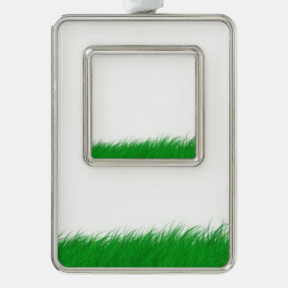 grass in the wind silver plated framed ornament