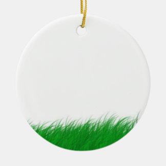 grass in the wind round ceramic decoration