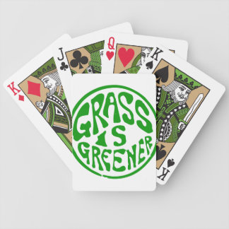 Grass is Greener Bicycle Playing Cards