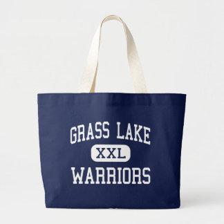 Grass Lake - Warriors - High - Grass Lake Michigan Canvas Bags