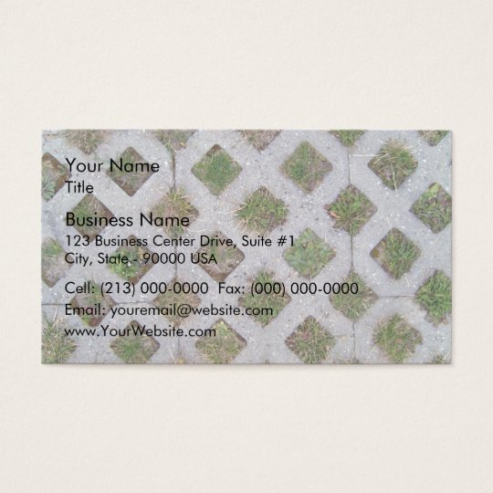 Grass Paver With Chequered Pattern Business Card