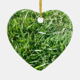 Grass Photo Design Christmas Ornament