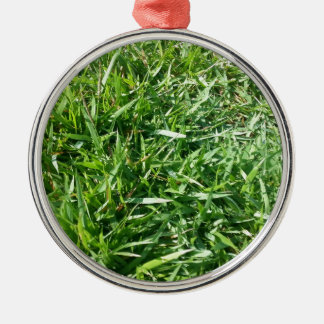 Grass Photo Design Christmas Ornaments