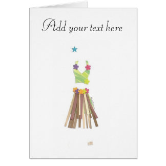 Grass Skirt Card