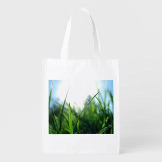 Grass & sky reusable grocery bag