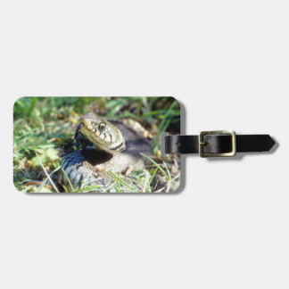 Grass snake luggage tag