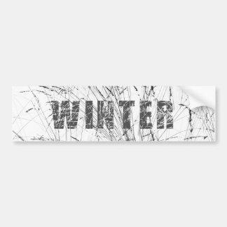 Grass Snow Text Winter Bumper Sticker