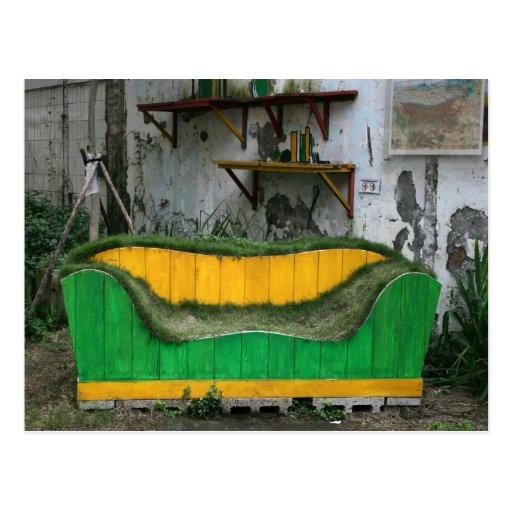 Grass sofa post card