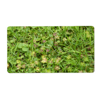Grass sticker shipping label