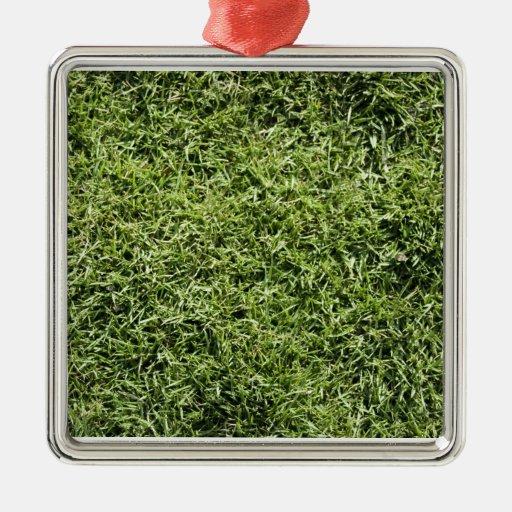Grass Texture Christmas Tree Ornaments