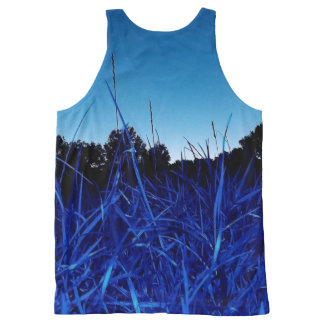 Grass Trees Sunset All-Over Print Tank Top