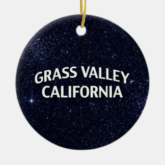 Grass Valley California Christmas Tree Ornament