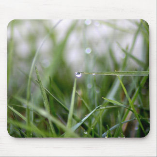 Grass water drop mouse pad